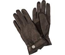 Herren Handschuhe Leder schoko