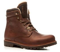 Herren Schuhe Schnürstiefeletten Leder warm gefüttert braun braun,beige