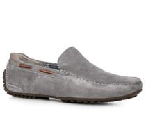 Herren Schuhe Mokassin Veloursleder grau grau,grau