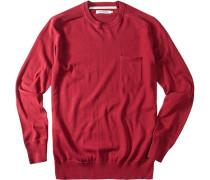 Herren Pullover Baumwolle rubinrot