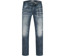 Herren Jeans Baumwoll-Stretch denim blau