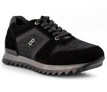 Schuhe Sneaker Leder-Textil anthrazit