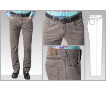 Herren Jeans Berry Modern Fit Baumwoll Stretch braun