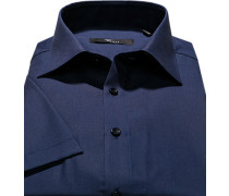 Herren Hemd Slim Fit Popeline marine blau