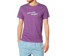 Herren Jersey-Shirt Baumwolle lila flieder