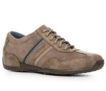 Herren Schuhe Sneaker, Nubukveloursleder, taupe beige