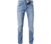 Herren Jeans, Baumwolle, jeansblau