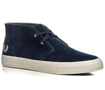 Herren Schuhe Desert Boots Veloursleder blau blau,grau