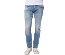Herren Jeans, Slim Fit, Baumwoll-Stretch, jeansblau