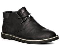 Herren Schuhe Stiefeletten Glattleder schwarz