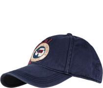 Herren Cap Baumwolle marineblau