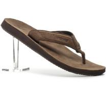 Herren Schuhe Zehensandale Leder braun