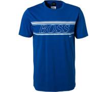 T-Shirt Baumwolle-Mikrofaser kobalt