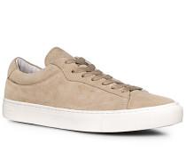 Herren Schuhe Sneaker Veloursleder beige