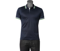 Herren Polo-Shirt Baumwoll-Jersey navy blau