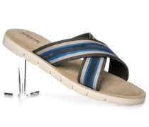 Herren Schuhe Sandalen Textil navy blau