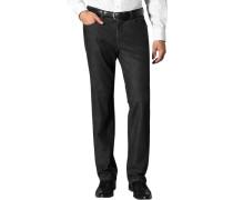 Herren Jeans Kid, Baumwoll-Stretch, schwarz