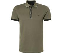 Polo-Shirt, Baumwoll-Piqué, khaki