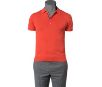 Herren Pullover Baumwolle koralle orange