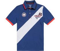 Herren Polo-Shirt, Baumwolle, marine blau