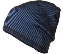 Herren Mütze, Wolle, blau gestreift