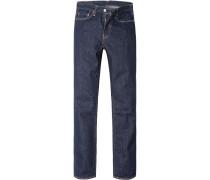Herren Jeans Straight Fit Baumwolle tinten