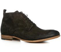 Herren Schuhe Schnürstiefeletten, Veloursleder, bruno braun