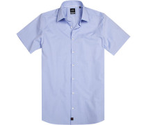 Herren Hemd Slim fit Chambray bleu blau
