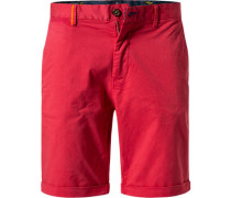 Hose Bermudashorts Regular Fit Baumwolle red