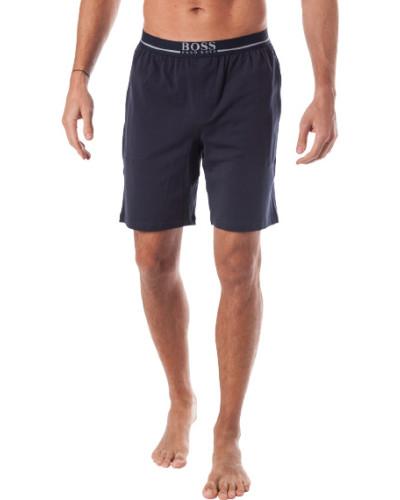 Schlafanzug Pyjamashorts, Baumwolle, navy