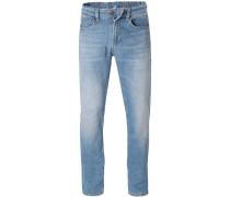 Herren Jeans, Regular Fit, Baumwoll-Stretch, hellblau