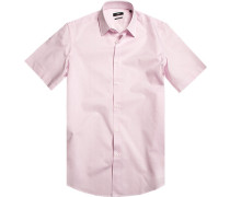 Herren Hemd Regular Fit Baumwolle rose kariert rosa