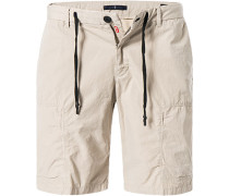 Herren Hose Shorts, Modern Fit, Baumwolle, beige