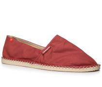 Herren Schuhe Espandrilles, Canvas, marsala rot