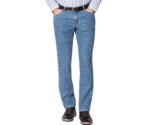 Herren Jeans Seth, Tailored Fit, Baumwoll-Stretch, jeansblau