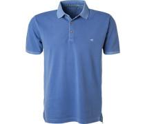 Herren Polo-Shirt, Baumwoll-Piqué, blau