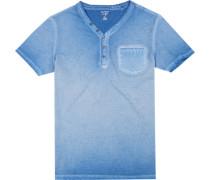 Herren T-Shirt, Body Fit, Baumwolle, blau