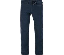Herren Cordjeans Modern Fit Baumwoll-Stretch jeansblau
