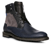 Herren Schuhe Schnürstiefeletten Rindleder navy blau
