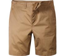 Herren Hose Shorts Popeline sand beige