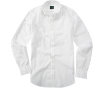 Herren Hemd, Baumwolle, weiß