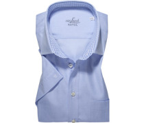 Herren Hemd Regular Fit Baumwolle hellblau meliert