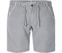 Herren Hose Bermudas Baumwolle-Leinen grau