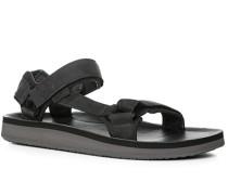 Herren Schuhe Sandalen Nubukleder anthrazit grau
