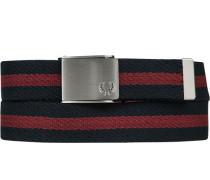 Herren Gürtel navy-rot gestreift Breite ca. 3,5 cm