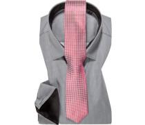 Herren Hemd mit Krawatte grau