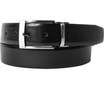 Herren Gürtel Wendegürtel schwarz-dunkelbraun Breite ca. 3,5 cm
