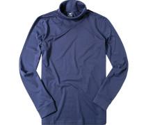 Herren Rollkragen-Shirt Baumwolle tintenblau