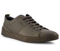 Schuhe Sneaker Leder oliv