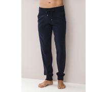 Herren Pyjamahose, Baumwolle, blau
